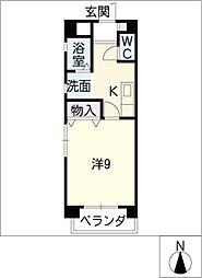 ベル末広[4階]の間取り