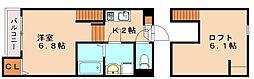 仮)麦野メゾネットアパート[2階]の間取り
