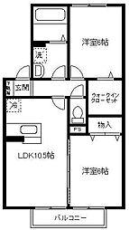 埼玉県川口市安行出羽5丁目の賃貸アパートの間取り
