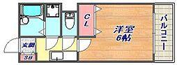 パピヨン青木[201号室]の間取り