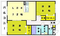 コンフレール五番館[2階]の間取り