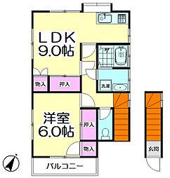 荒川アパート[2F号室]の間取り
