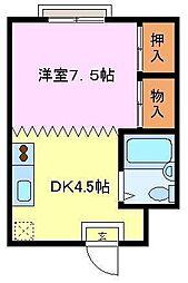 大阪府堺市西区浜寺元町5丁の賃貸マンションの間取り