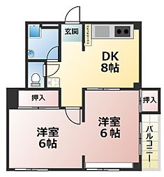 マツヤパークマンション[4階]の間取り