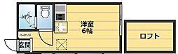 アーヴェル桜ケ丘[106号室]の間取り