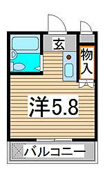 埼玉県さいたま市浦和区本太3丁目の賃貸マンションの間取り