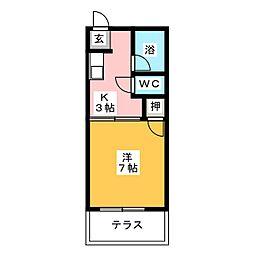 ファミール清住[1階]の間取り