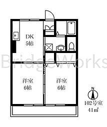 セジュールEK[1階]の間取り