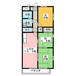 メゾンソレイユ[4階]の間取り