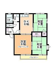 サングレース平田[B101号室]の間取り