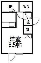アークコート東札幌[202号室]の間取り