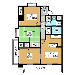 クレスト・コート[6階]の間取り
