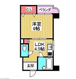 大阪府大阪市北区本庄西3丁目の賃貸マンションの間取り
