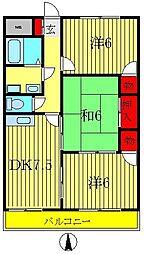 第一いこいマンション[203号室]の間取り