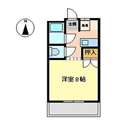 サンクレスト東広島[205号室]の間取り