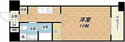 大阪府大阪市中央区今橋1丁目の賃貸マンションの間取り
