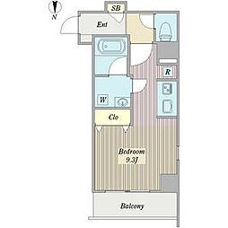 SJ桜山 6階ワンルームの間取り