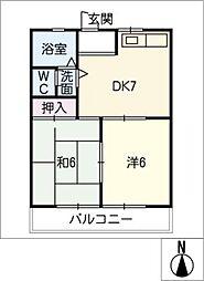 コーポS・T[1階]の間取り