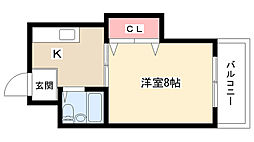愛知県長久手市杁ヶ池の賃貸マンションの間取り