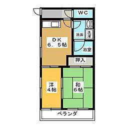 コーポ市場木[2階]の間取り