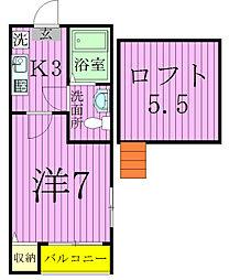 Stage新松戸[106号室]の間取り