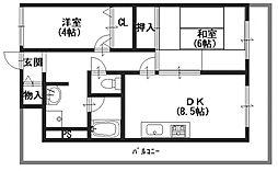 橿原神宮前スカイハイツ[2階]の間取り