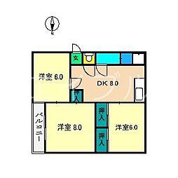 シティ次郎丸[2階]の間取り