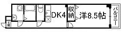 京都府京都市下京区上平野町の賃貸マンションの間取り