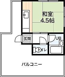 新苗ビル[4階]の間取り