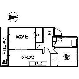 一杉マンション[306号室]の間取り