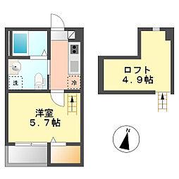 アイスマート スリー(i-smart 3)[2階]の間取り