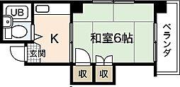 河内第1ビル[4階]の間取り