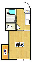 成沢スチュデンツハウスA[2階]の間取り