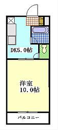 静岡県袋井市新池の賃貸マンションの間取り
