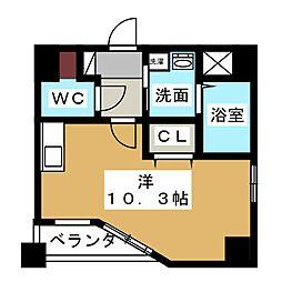 GRANDUKE東別院crea[9階]の間取り
