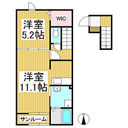 シエルアンフィニMIKURIYA[2階]の間取り