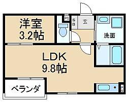 アーバン香里ケ丘[2階]の間取り
