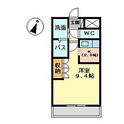 コートダジュールin桃ヶ丘A[106号室]の間取り