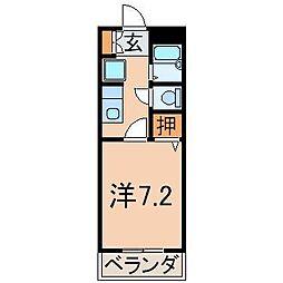 1115ピュアメゾンM[1階]の間取り