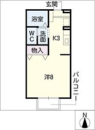 セジュールフジタIII[2階]の間取り