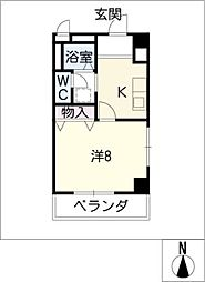 グレース小坂本町[3階]の間取り