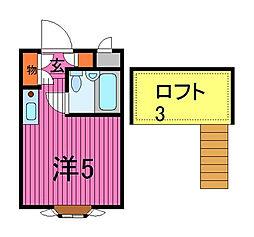ベルシティ川口I号棟[3階]の間取り