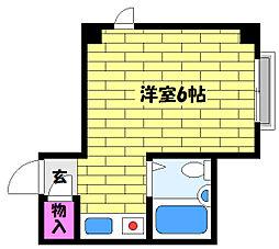 兵庫県芦屋市平田北町の賃貸マンションの間取り