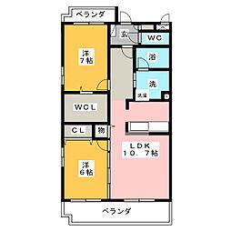 メゾンエイムV[2階]の間取り