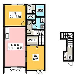 ピース・ユー[2階]の間取り