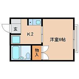 静岡県静岡市清水区追分の賃貸アパートの間取り