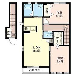 カルミアハイツ[2階]の間取り