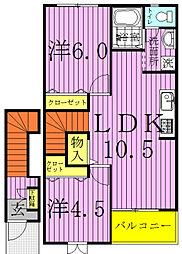 パルコ プレッソ[2階]の間取り