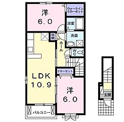 CASA二本松3[2階]の間取り