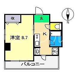 ルーア[6階]の間取り